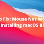 Cómo solucionarlo: el mouse no funciona después de instalar macOS Big Sur