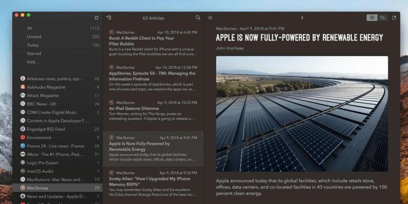 Revisión de la aplicación Cappuccino: el mejor cliente de noticias RSS para macOS e iOS