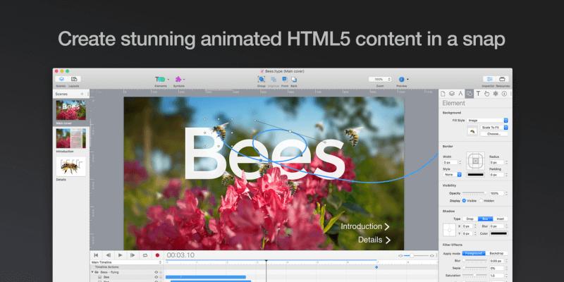 Revisión de Hype 3: la herramienta de animación HTML5 más sencilla para Mac
