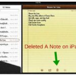 Cómo recuperar notas eliminadas en iPad